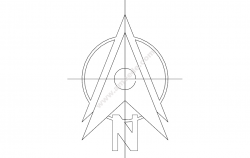 North Arrow Symbol file cdr and dxf free vector download for printers or laser engraving machines