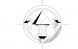 North Arrow Symbol Round file cdr and dxf free vector download for printers or laser