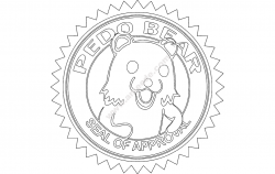 Pedobear file cdr and dxf free vector download for printers or laser engraving machines