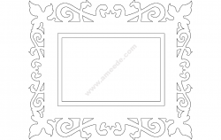 Quadro Trabalhado (Frame) file .cdr and .dxf free vector download for Laser cut CNC