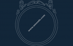 Round Frame file .cdr and .dxf free vector download for Laser cut CNC