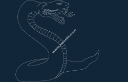 Serpent Snake file .cdr and .dxf free vector download for printers or laser engraving machines