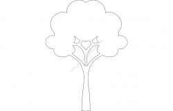 Simple Tree file .cdr and .dxf free vector download for printers or laser engraving machines