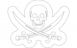 Skull Swords file .cdr and .dxf free vector download for printers or laser engraving machines