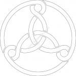 Three Celtic Knots file .cdr and .dxf free vector download for Laser cut plasma