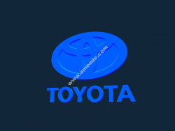 Toyota Logo file 3d .stl and .bmp free vector download for CNC