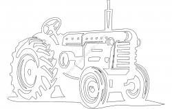 Tractor file .cdr and .dxf free vector download for Laser cut CNC