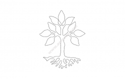 Tree Design file .cdr and .dxf free vector download for Laser cut plasma