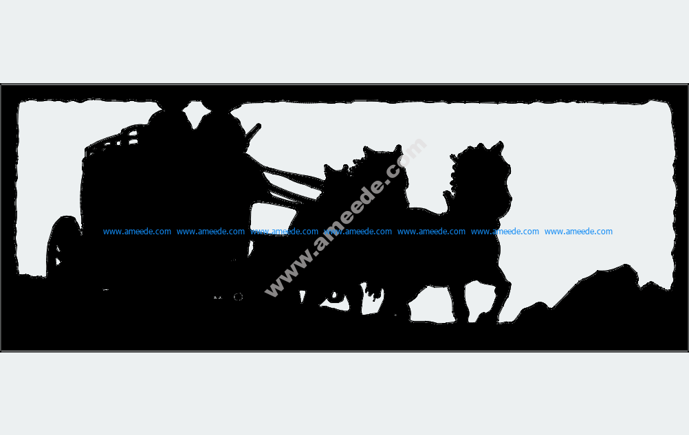 Two Up Horse Drawn Stagecoach
