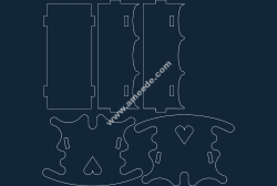 Wiege (Cradle) file .cdr and .dxf free vector download for Laser cut CNC