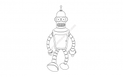 bender robot file cdr and dxf free vector download for printers or laser