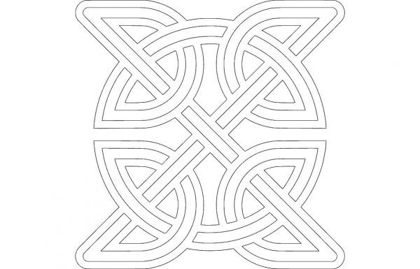 Celtic Knot Round Inside Square