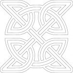 Celtic Knot Round Inside Square file .cdr and .dxf free vector download for Laser cut plasma