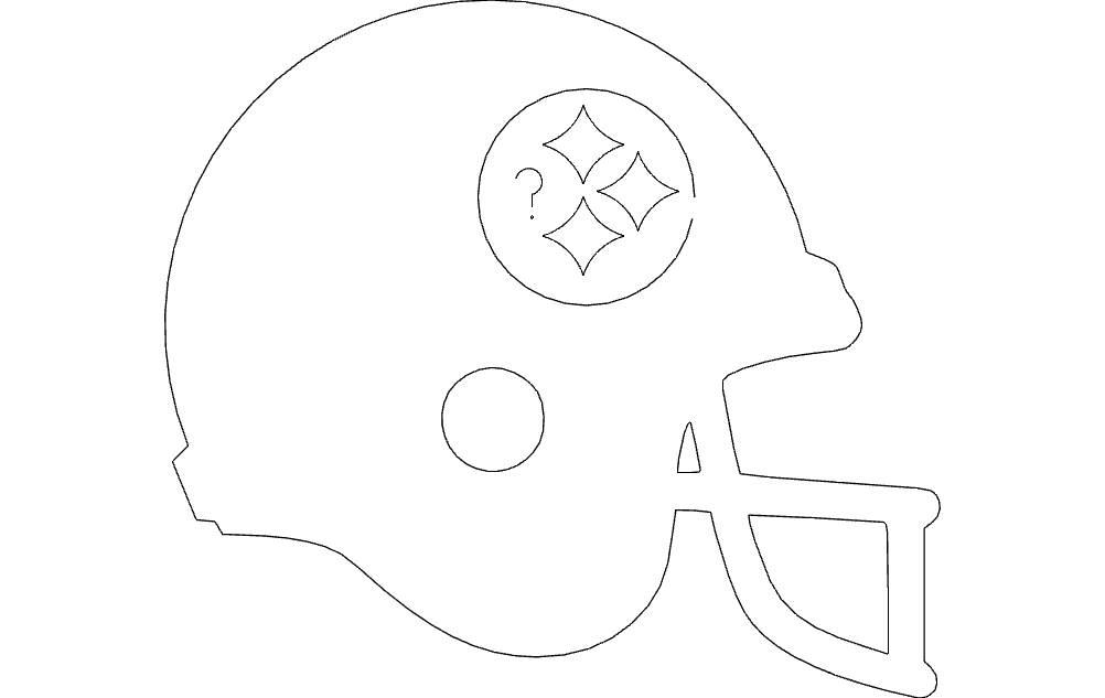 Football Helmet Silhouette