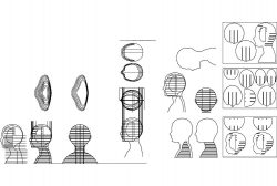 cardb head upd file .cdr and .dxf free vector download for Laser cut CNC