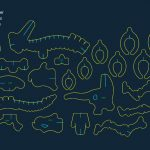 Dinosaur file .cdr and .dxf free vector download for Laser cut CNC