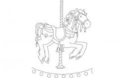 Horse Carousel file cdr and dxf free vector download for printers or laser engraving machines