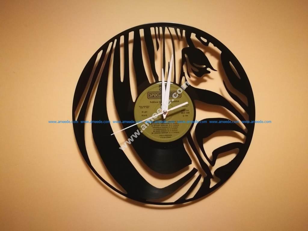Orologio Vinile Zebra