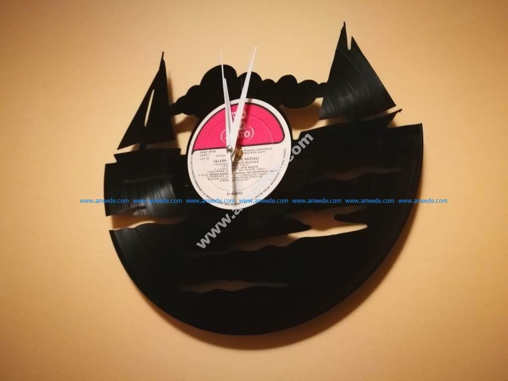 Orologio Vinile Barca Vela Clock