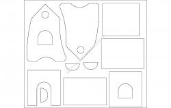 skvoreshnik file cdr and dxf free vector download for Laser cut CNC