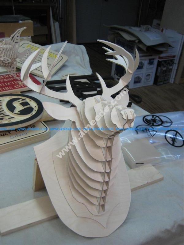 Deer Head 3D puzzle