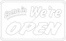 Come in we are open board