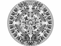 Aztec Sun Stone Vectors