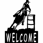 Barrel Racer welcome sign