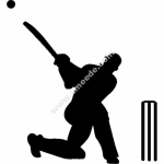 Cricket Silhouette
