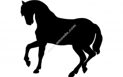 Dancing Horse Silhouette Vector