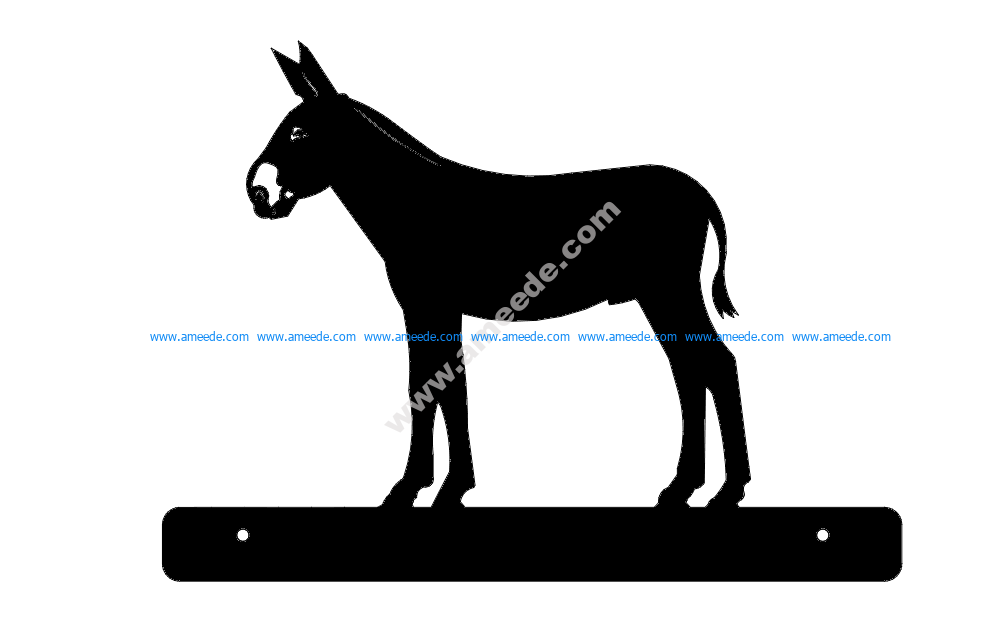 Donkey With Plate
