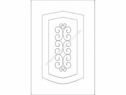 Door Design Wooden Floral