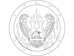 Eagle Clock
