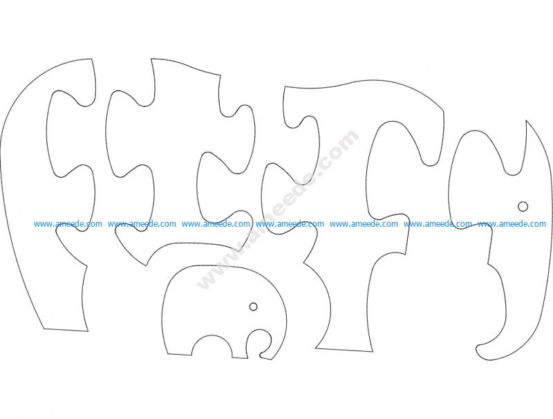 Elefant Jigsaw Puzzle
