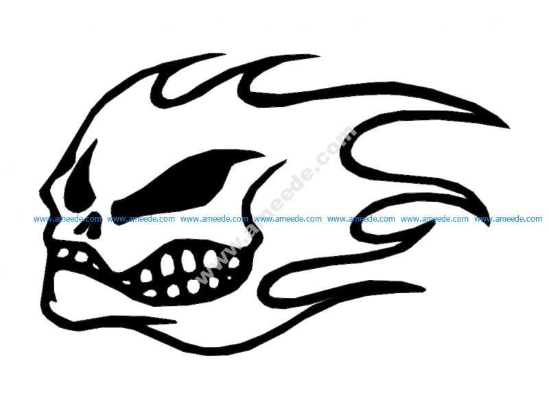 Flame skull