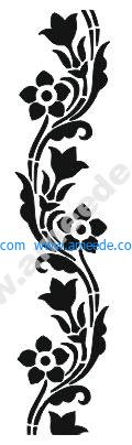 Flowers and decorative pattern