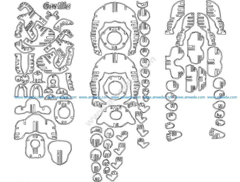 Gorilla 3D Puzzle