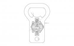 Harley bottle opener