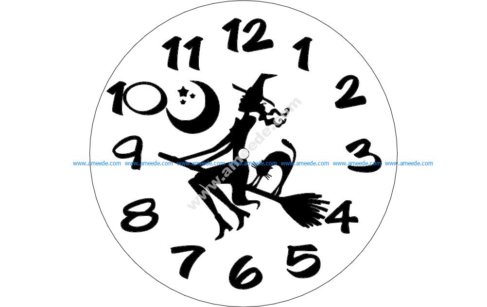 Horloge Sorciere