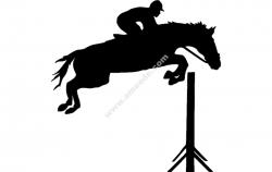 Jockey Horse Jumping Hurdles