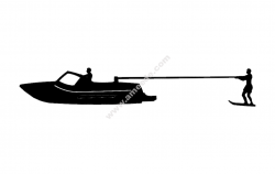 Kneeboard Fixed Skier Boat