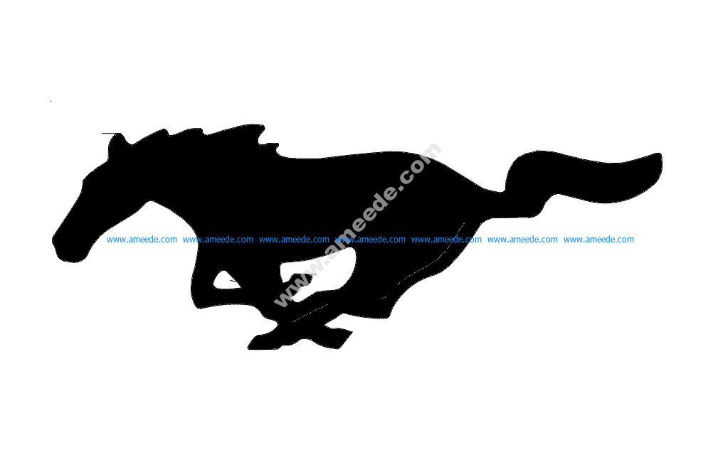 Mustang Horse – Outline