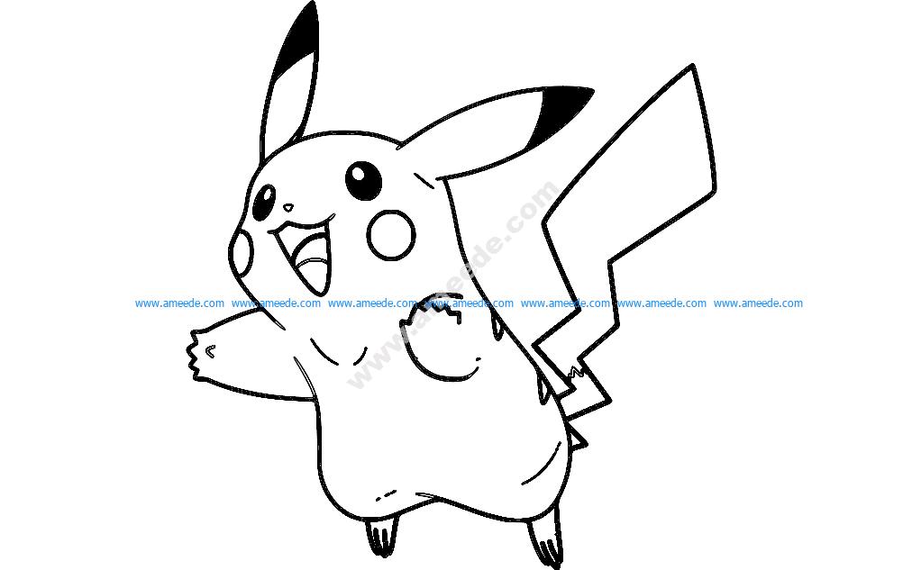 Pikachu 2 lines