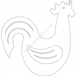 Rooster Crowing Silhouette
