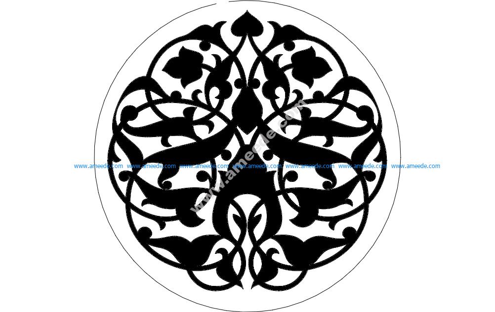 Round Pattern Floral