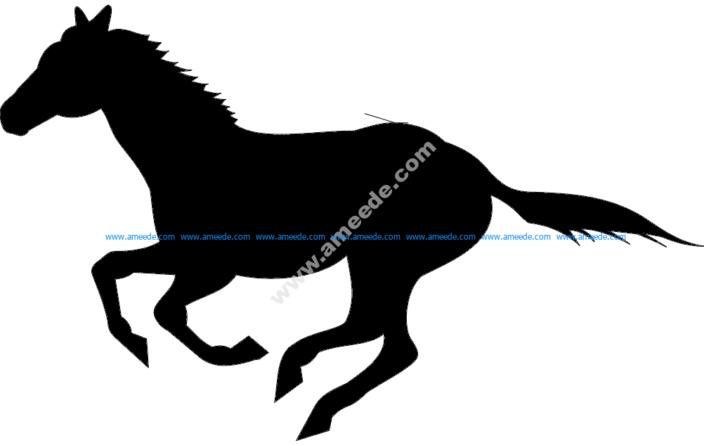 Running Horse Silhouette Download Free Vector