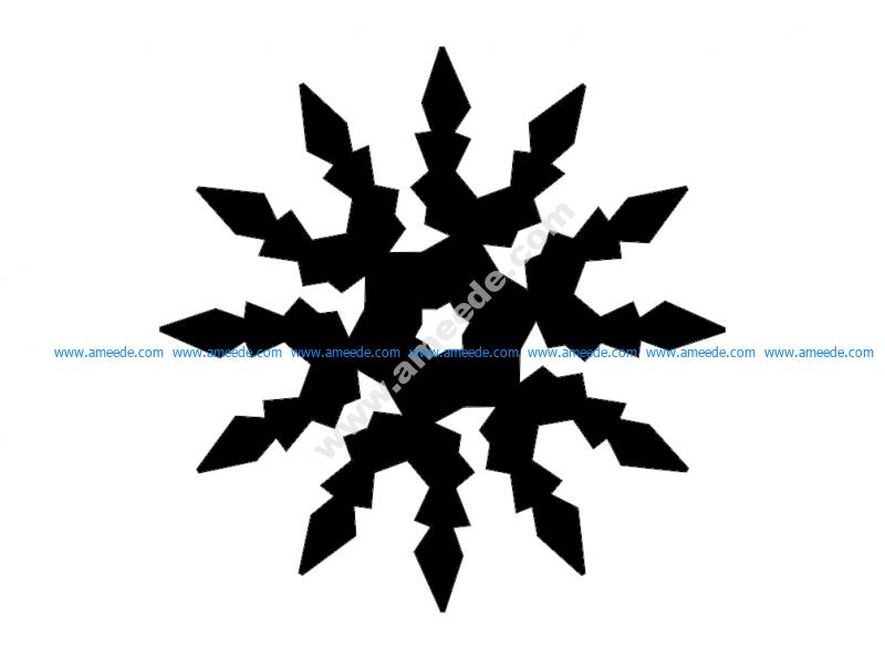Snowflake Digital Cut