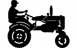 Tractor Silhouette 3