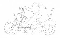 Two People On Motorbike