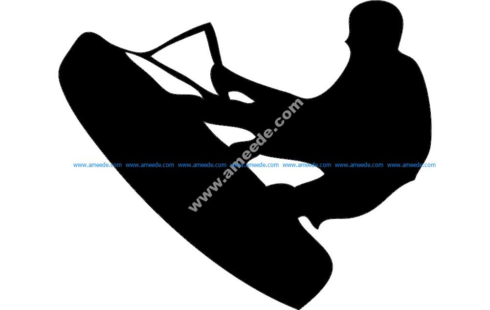 Wake Wakeboarding Silhouette